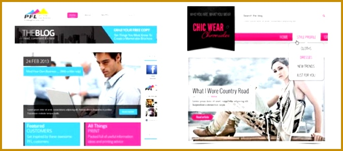 Examples of websites designed on 99designs 298676