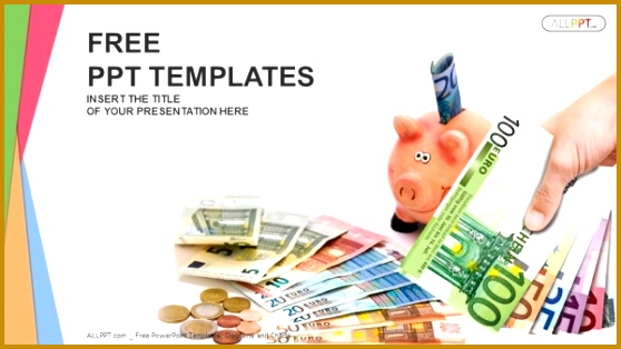 Piggy Bank with money Finance PowerPoint Templates 314558