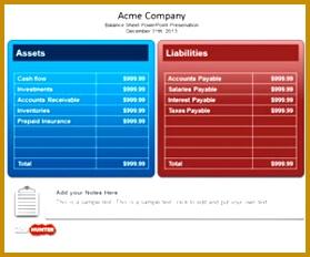 Balance Sheet PowerPoint Template 232279