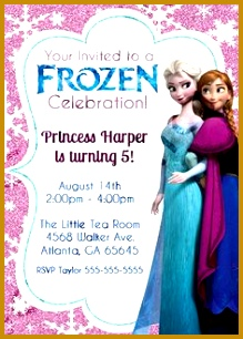 7 Free Frozen Invitation Template