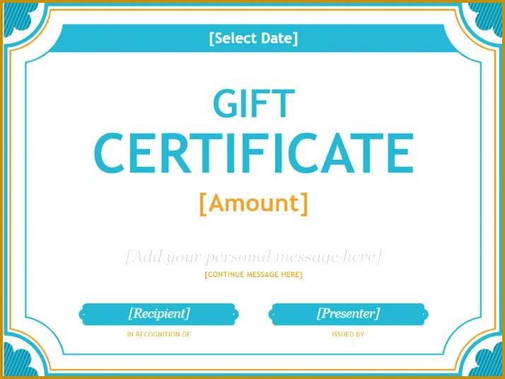 A t certificate template in blue and orange 714536