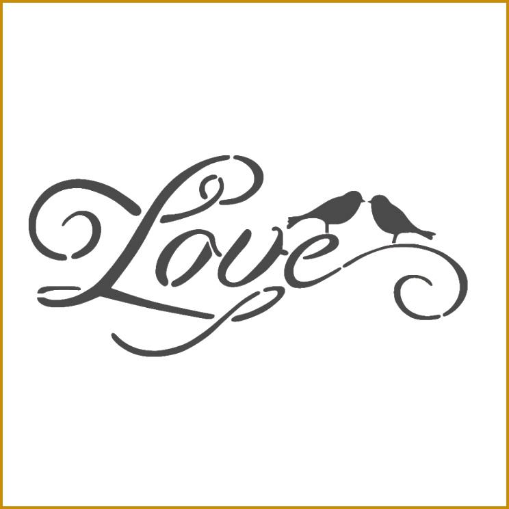 "WALL STENCILS PATTERN 12 99""x9 05"" Airbrush STENCIL LARGE TEMPLATE love 3089 744744"