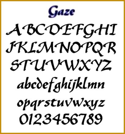 Free Printable Alphabet stencils 438409