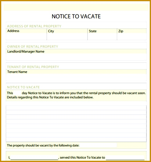 Notice to Vacate Form Free and software reviews CNET Download 532495