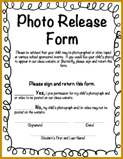 This is a photo release form for class websites or Shutterfly It is a PDF 4th Grade Pinterest 325251