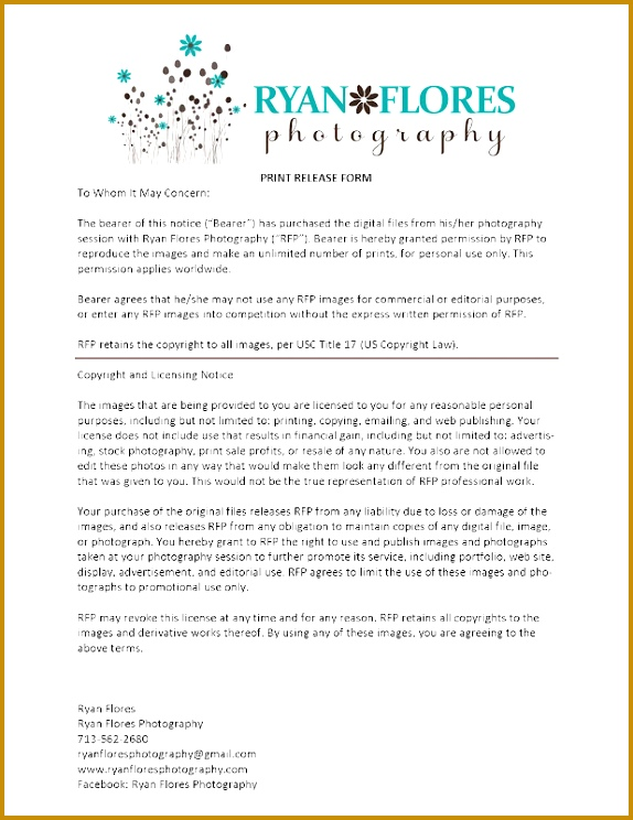 image release form template 744574