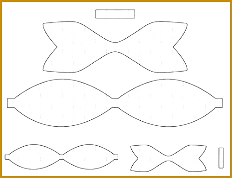 photograph about Bow Template Printable named Paper bow tie template pdf