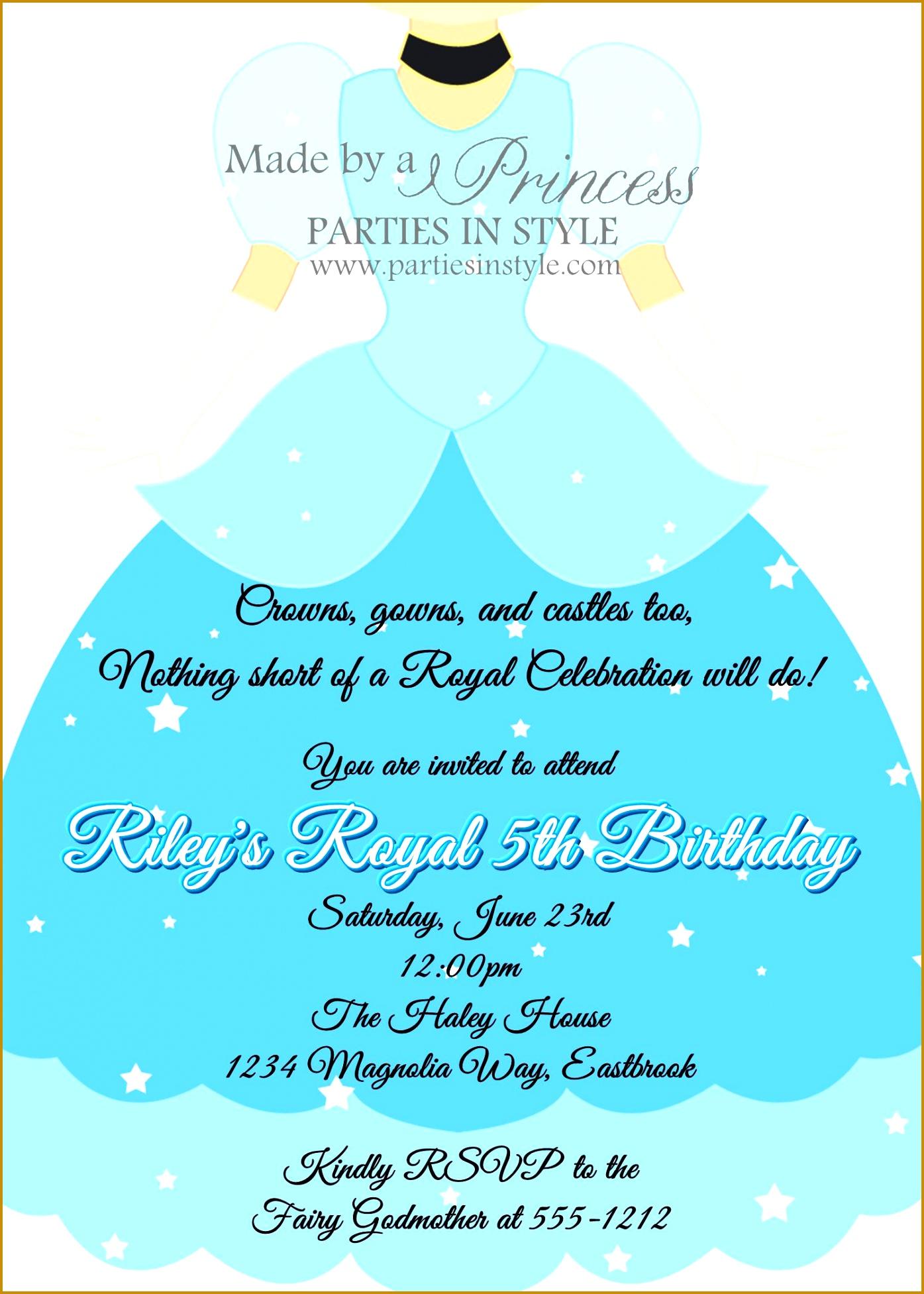 3 Free Printable Cinderella Invitations
