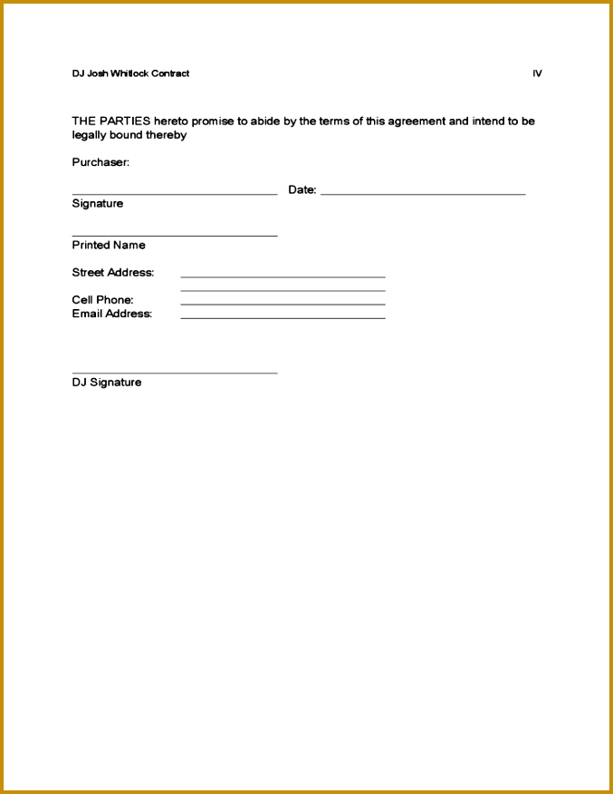 4 free printable dj contracts