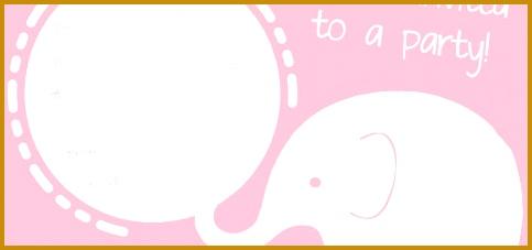 FREE Pink Elephant Party Invitation 227483