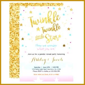 Gender reveal invitation Baby shower Twinkle Star 301301