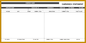 Employee Pay Stub Design · Free Basic PayStub Template 279142