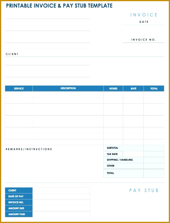 For freelancers consultants and contractors this template includes an invoice and payment stub Print and mail the template to clients 765584