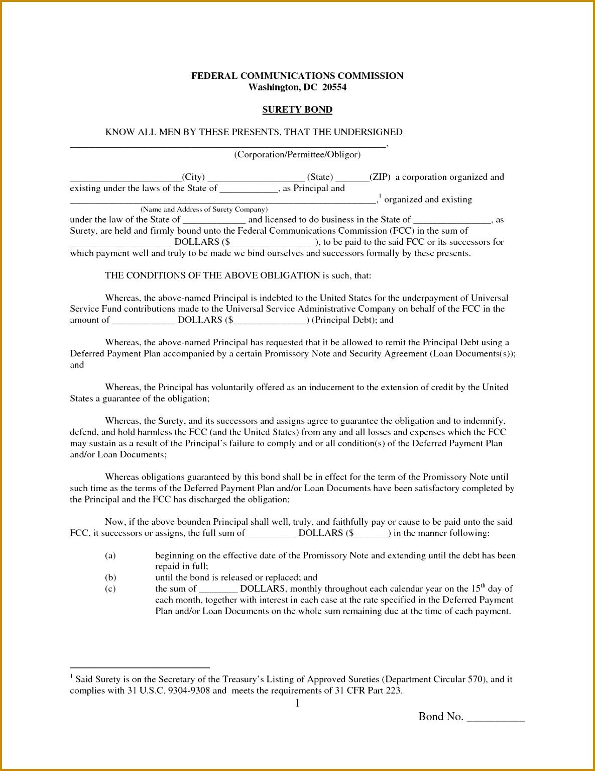 Free Promissory Note Template PDF 15341185