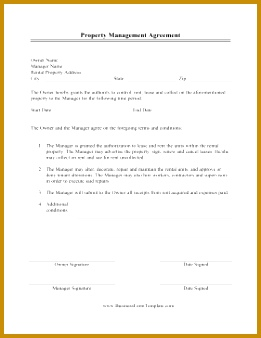 Property Management Agreement Business Form Template 338261