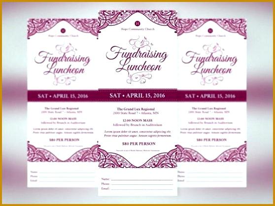 fundraiser event program template 558418