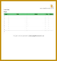 Blank 18 hole scorecard 201186