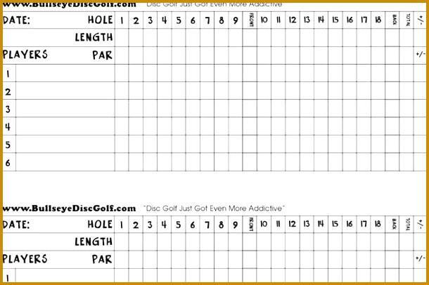Golf Scorecard Templates 406610