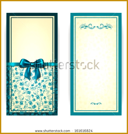 Elegant template luxury invitation card with lace ornament bow place for text 437418
