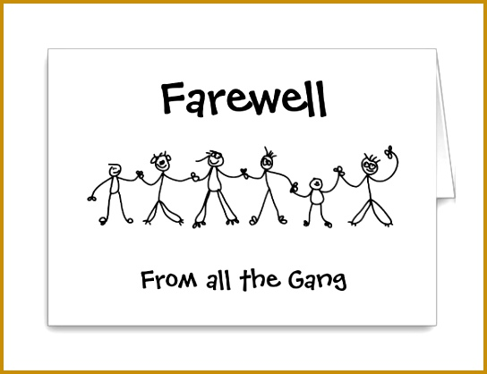 Group Farewell Card Template Free 418544