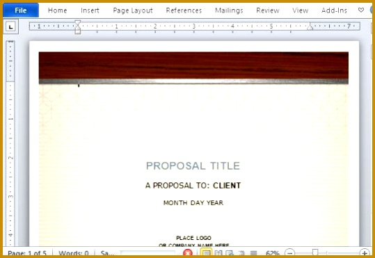 Clean Beautiful and Elegant Proposal Template for the Healthy Industry 371539