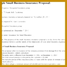 Small Business Insurance Proposal inside Health Insurance Proposal Template 139139