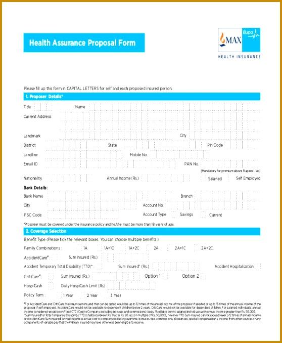 4 Health Insurance Proposal Template | FabTemplatez