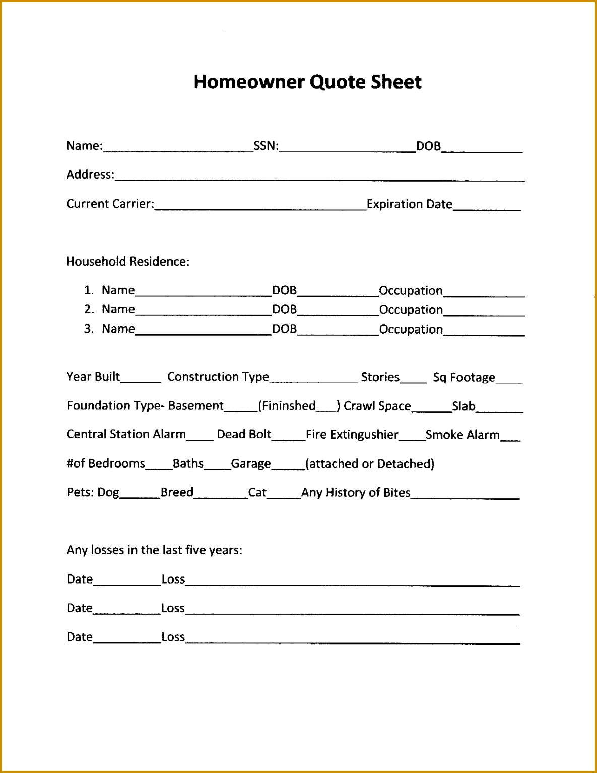 mercial Insurance Proposal Template How To Write The 15341185