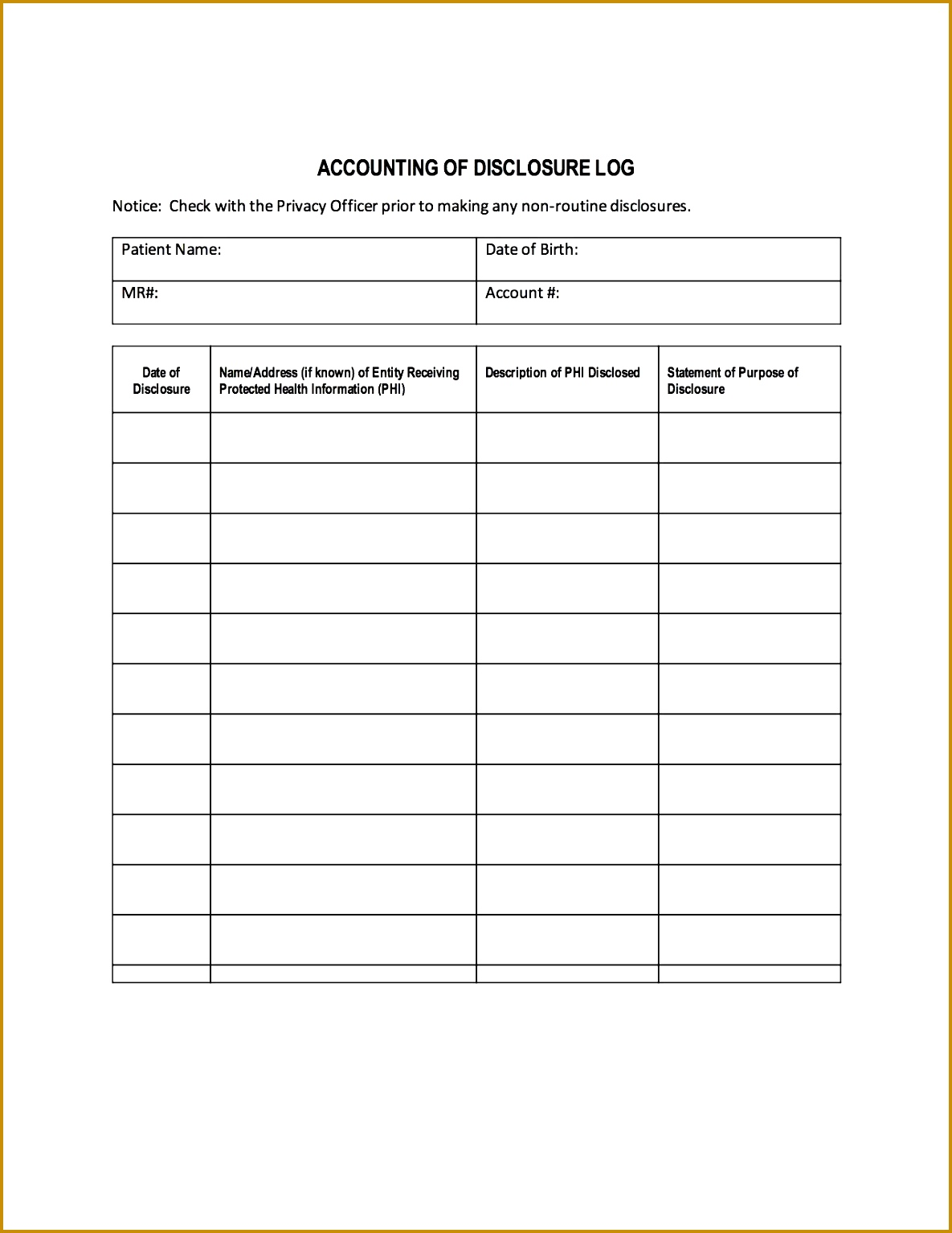 Generous Hipaa Form Template Contemporary   Example Resume Ideas .  Authorization To Release Information Template