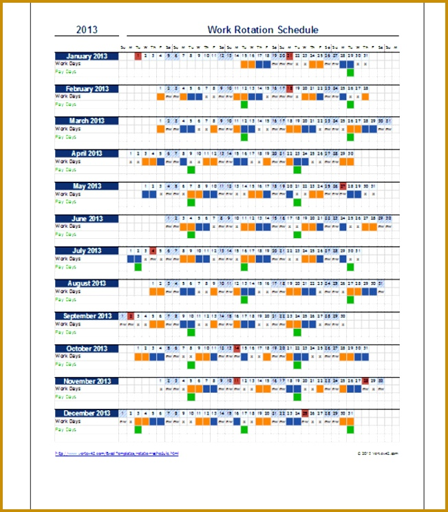 holiday timetable template