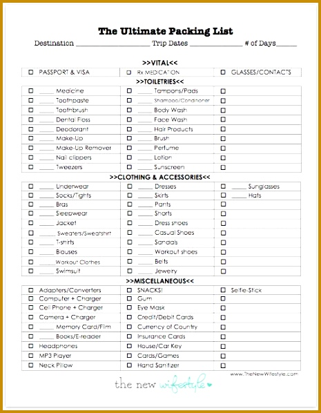printable packing list for a trip definitely using this for my next trip thanks 598465