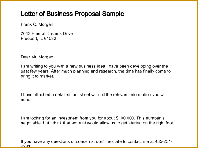 letter of business proposal sample 131 0 522697