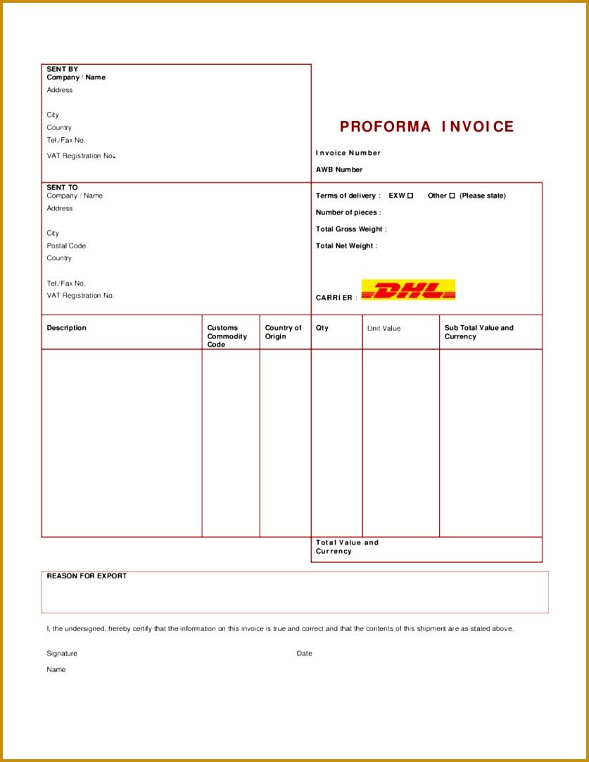 proforma invoice definition