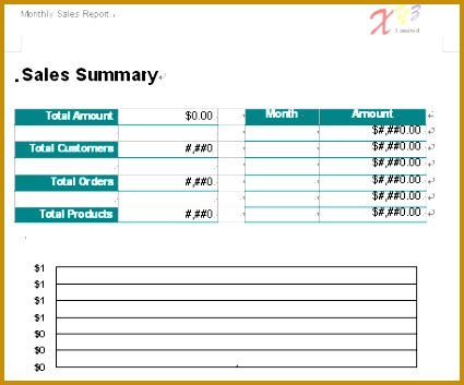 Word Report Template Monthly Sales 2 353425