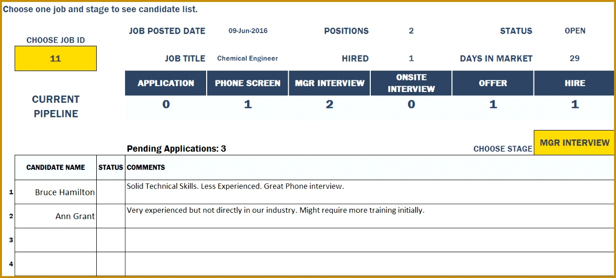 HR Recruitment Template Job Report 5711261