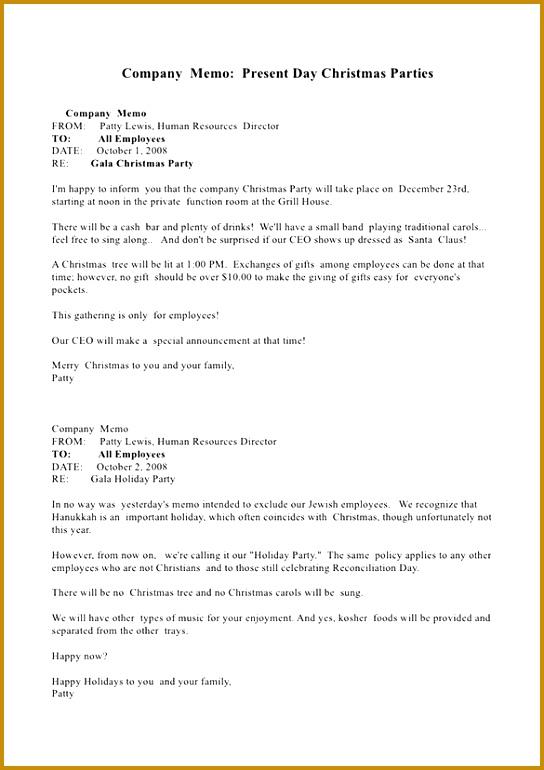 Christmas Holiday Memo Template Word Example 770544