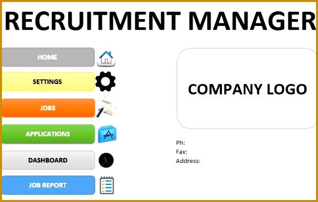 Recruitment Tracker Spreadsheet Hr Excel Template 413649