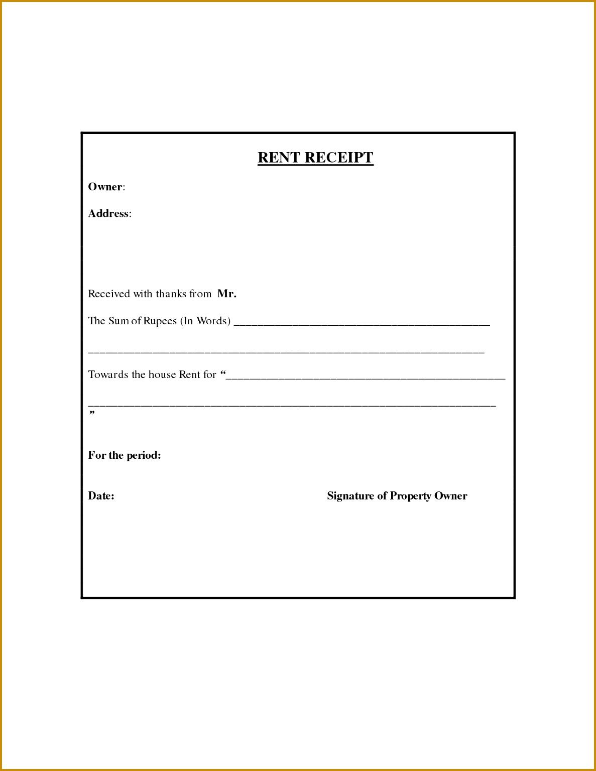 7 Hra Receipt format Doc | FabTemplatez