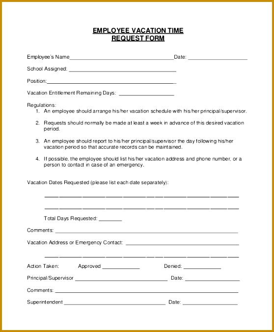 employee vacation request form template sample vacation request form 8 examples in pdf word templates 558678