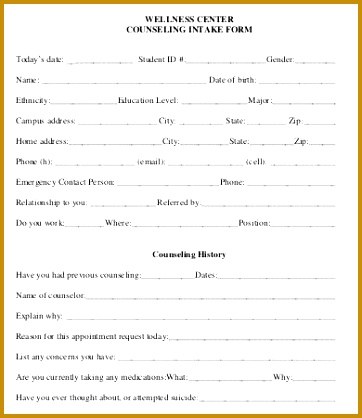 counseling release of information form template intake form template 10 free pdf documents free printable 418362