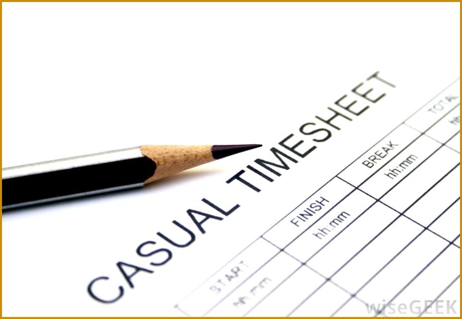 Casual employee timesheet 643930