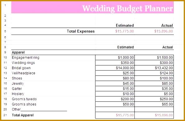 wedding bud planner x 390595