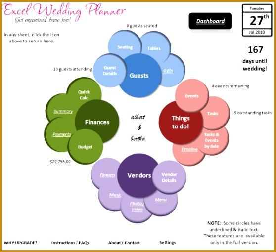 Excel Wedding Planner Features 558510