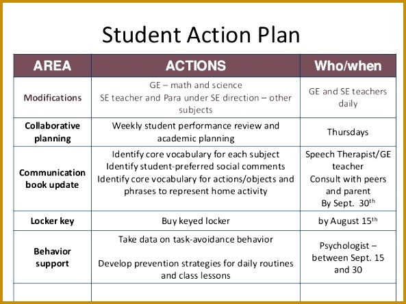 Student Action Plan 445593  Individual Action Plan Template