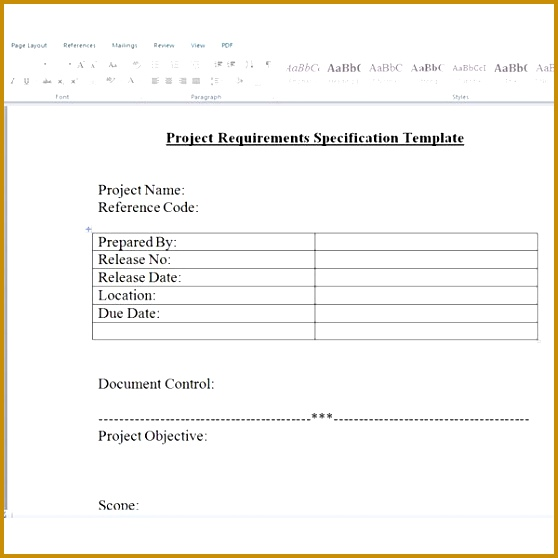 Project Requirements Specfication Template by Sidharth Thakur 558558