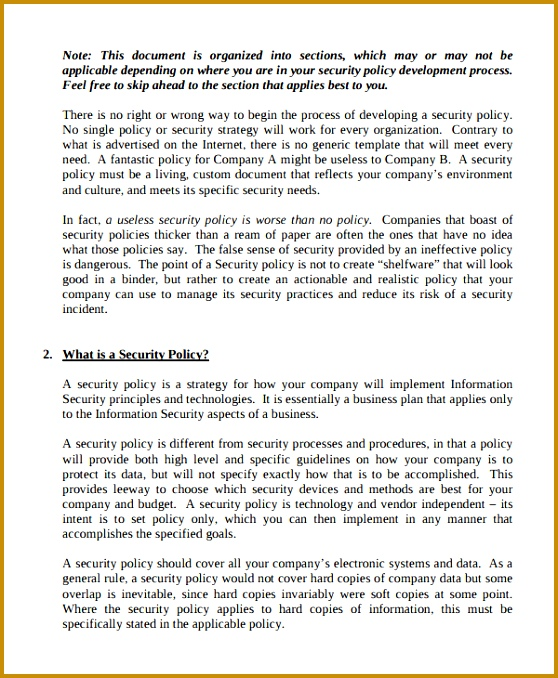 4 information security policy template free download