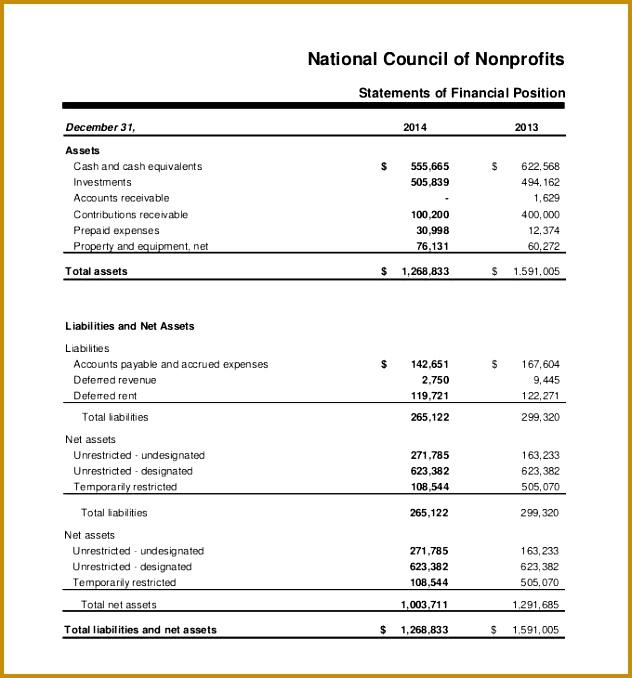 6 interim financial statement template