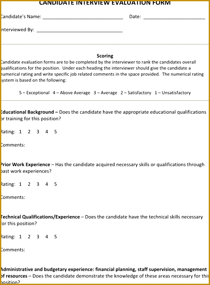View Forms · Interview Evaluation Form 4 921677