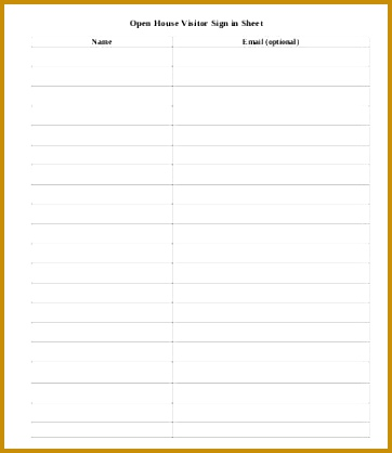 Visitor Sign In Sheet Template 9 Free Word Pdf Documents 362418