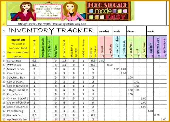 sample inventory spreadsheet excel od storage inventory tracker 660474